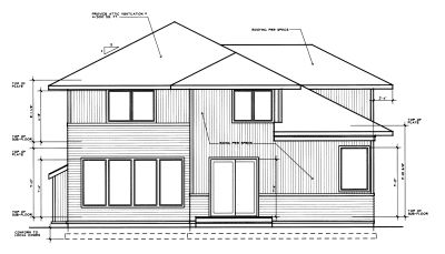 Rear Elevation Plan: 1-266