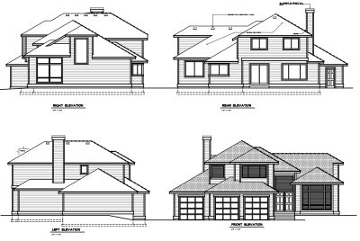 Rear Elevation Plan: 1-267