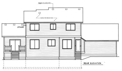 Rear Elevation Plan: 1-268