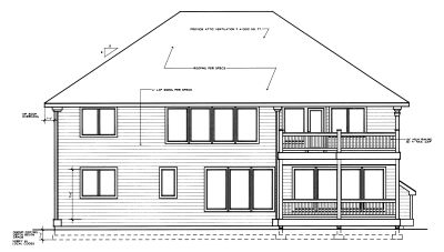 Rear Elevation Plan: 1-269