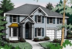 Early-American Style House Plans Plan: 1-269