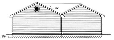 Rear Elevation Plan: 1-273