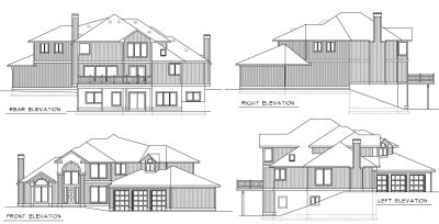Rear Elevation Plan: 1-276