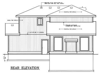 Rear Elevation Plan: 1-277