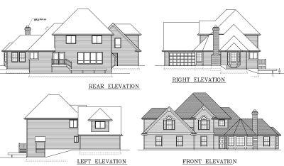 Rear Elevation Plan: 1-278