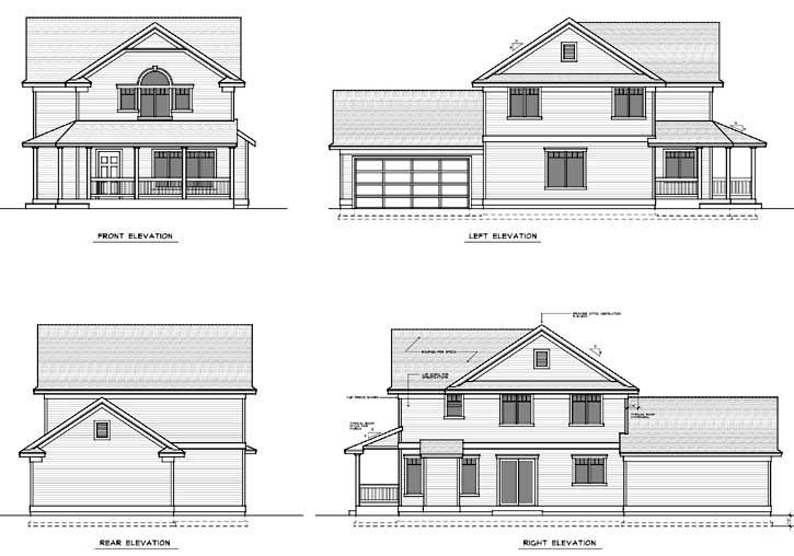 Rear Elevation Plan: 1-279