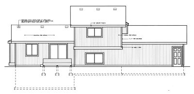 Rear Elevation Plan: 1-281