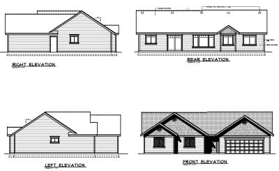 Rear Elevation Plan: 1-282