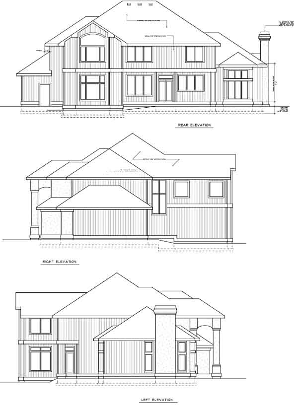 Rear Elevation Plan: 1-285