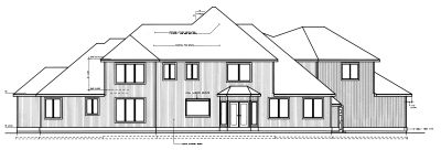 Rear Elevation Plan: 1-286