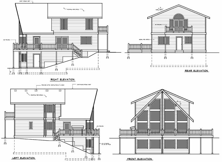 Rear Elevation Plan: 1-287