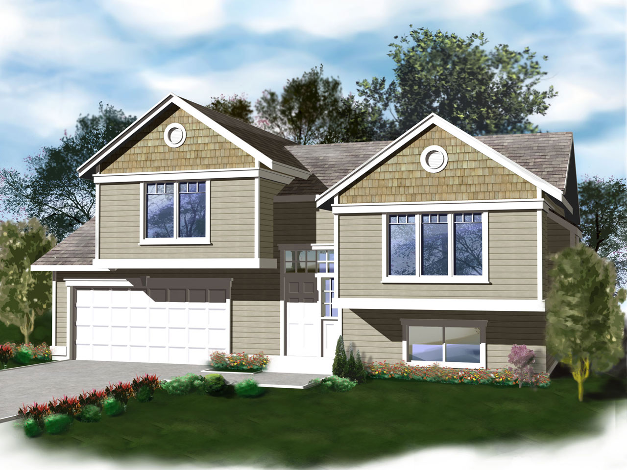 Craftsman Style Home Design 1-288
