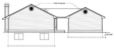 Rear Elevation Plan: 1-289