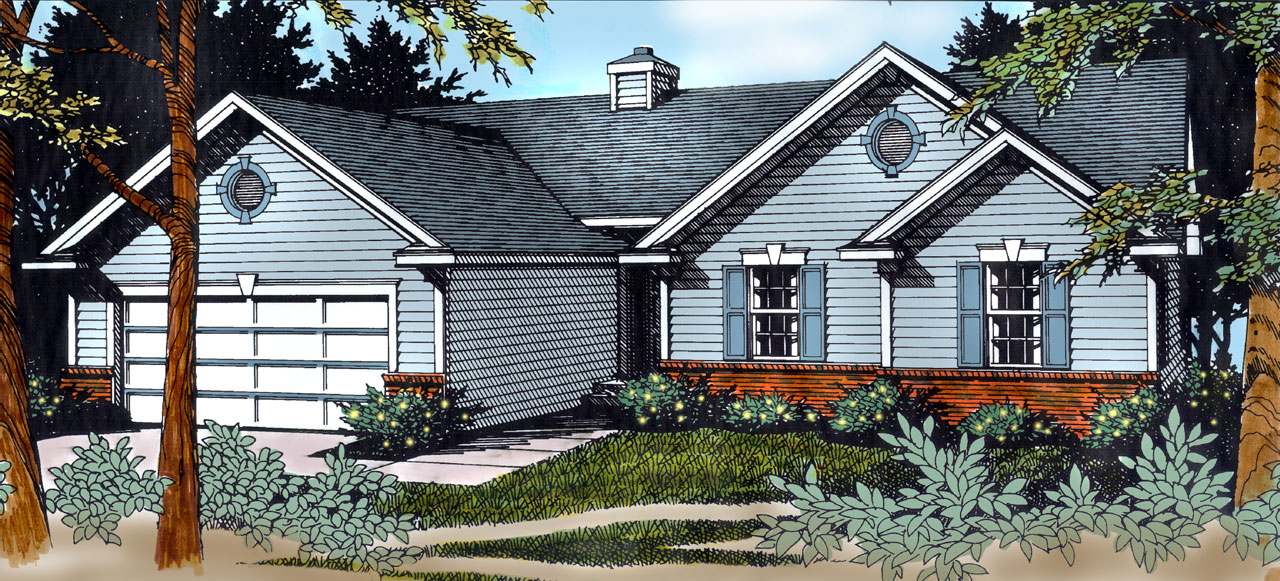 Ranch Style Floor Plans Plan: 1-290