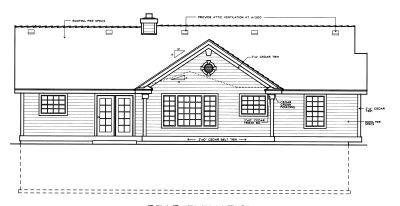 Rear Elevation Plan: 1-290