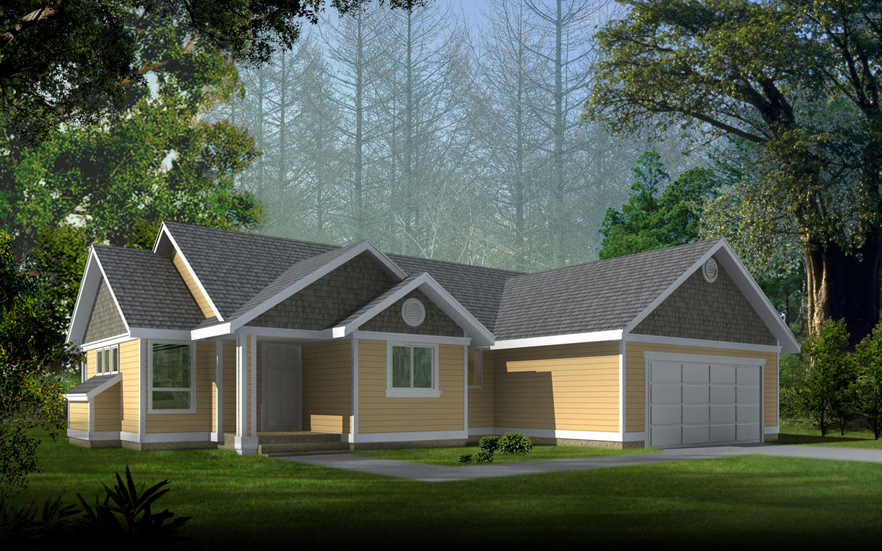 Craftsman Style Home Design 1-291