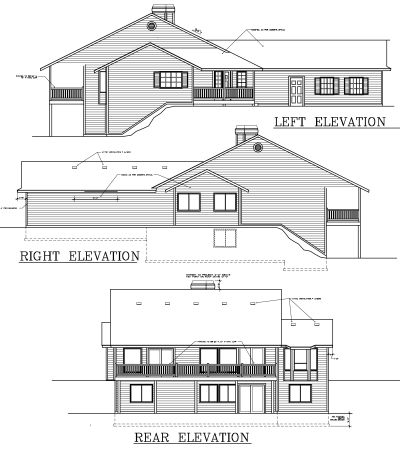 Rear Elevation Plan: 1-292
