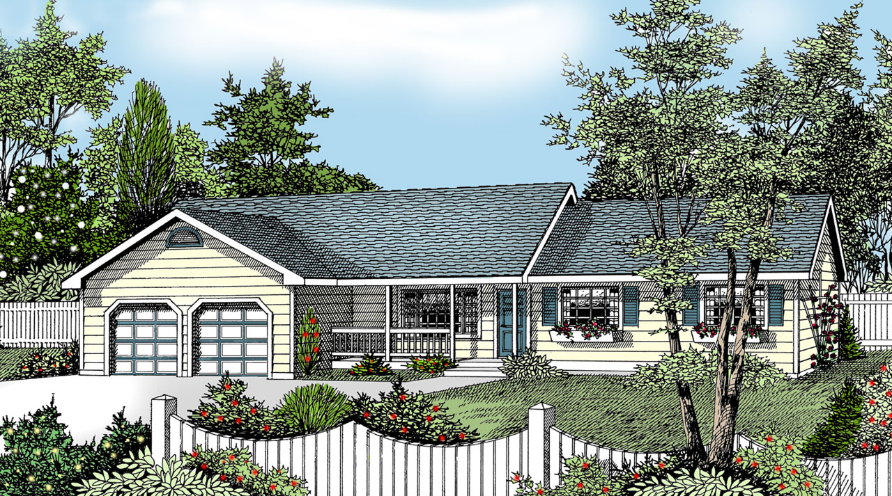 Ranch Style House Plans Plan: 1-293