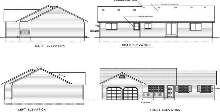 Rear Elevation Plan: 1-293