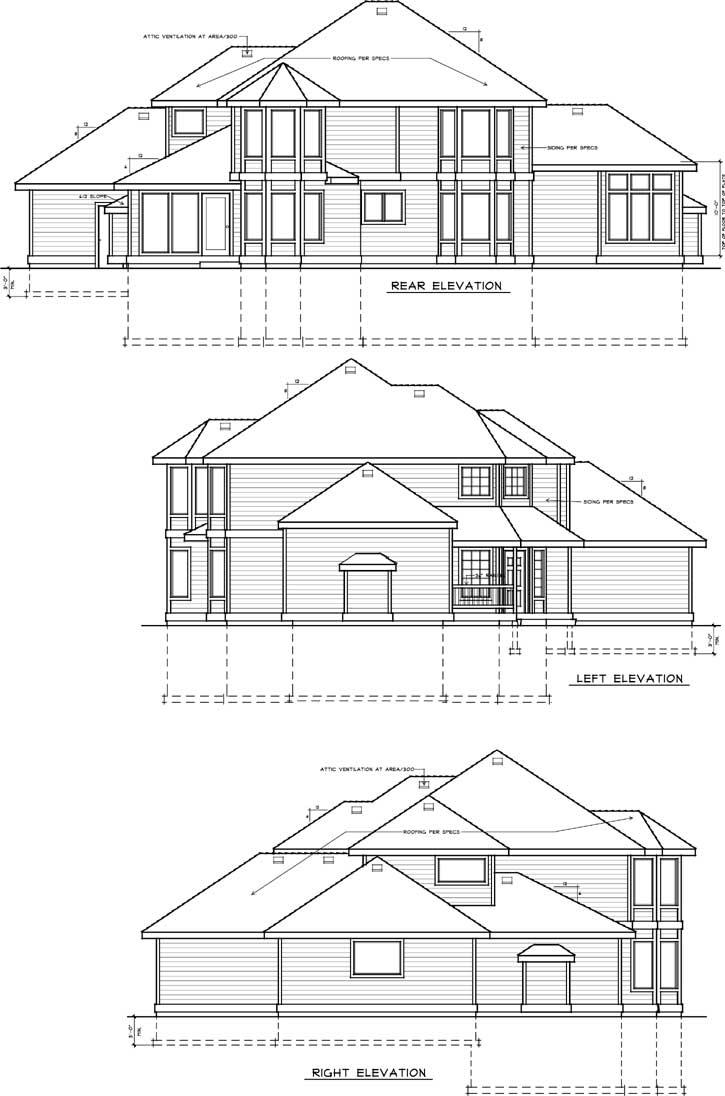 Rear Elevation Plan: 1-295