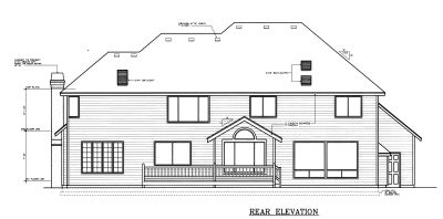 Rear Elevation Plan: 1-296