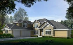 Craftsman Style Home Design Plan: 1-298