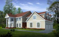 Early-American Style House Plans Plan: 1-300