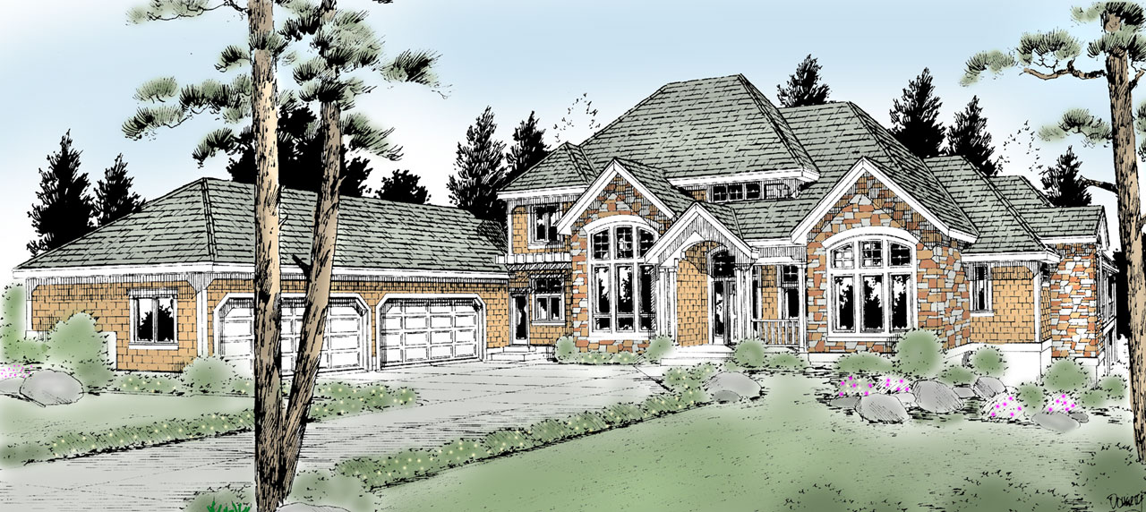Craftsman Style Floor Plans Plan: 1-302