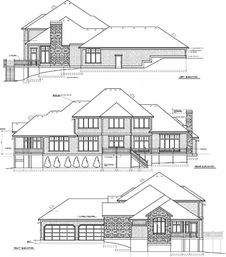 Rear Elevation Plan: 1-302