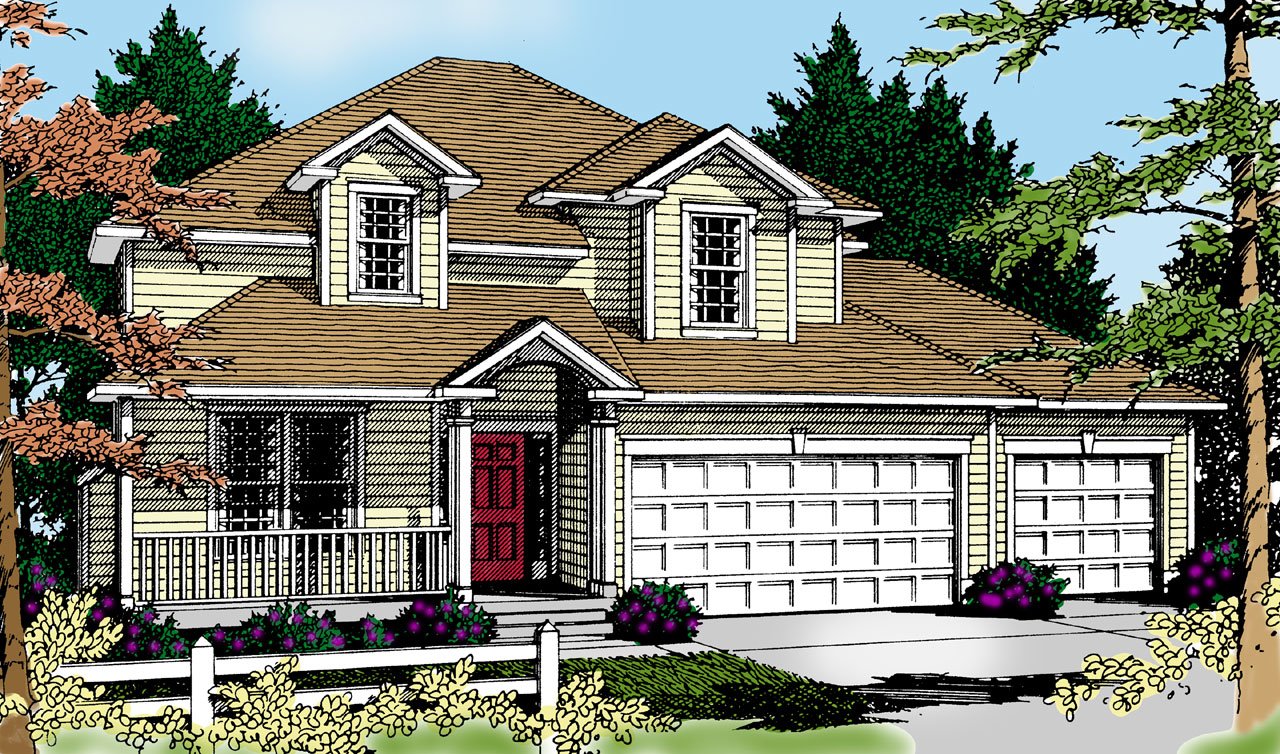 Traditional Style House Plans Plan: 1-305