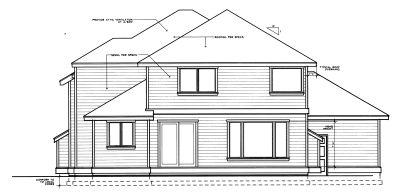 Rear Elevation Plan: 1-305