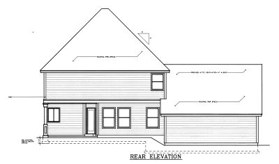 Rear Elevation Plan: 1-306