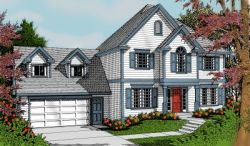 Early-American Style House Plans Plan: 1-306