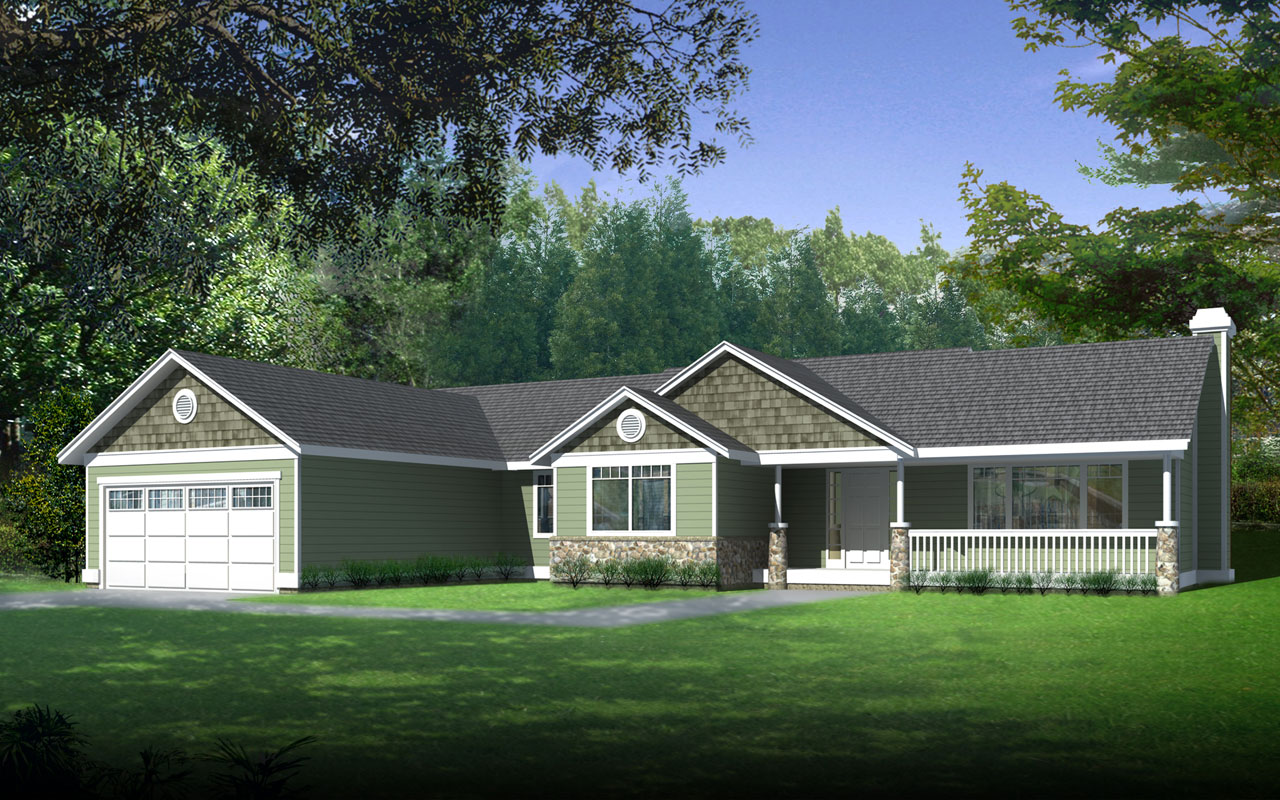 Craftsman Style House Plans Plan: 1-308