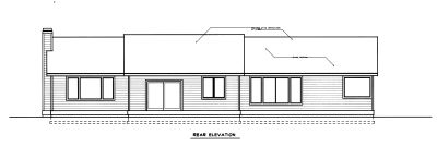 Rear Elevation Plan: 1-308