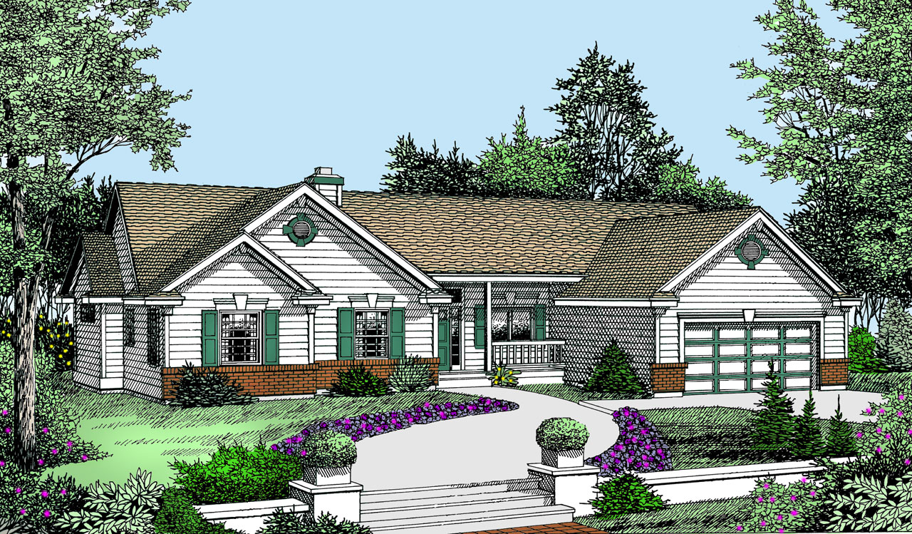 Ranch Style Floor Plans Plan: 1-309