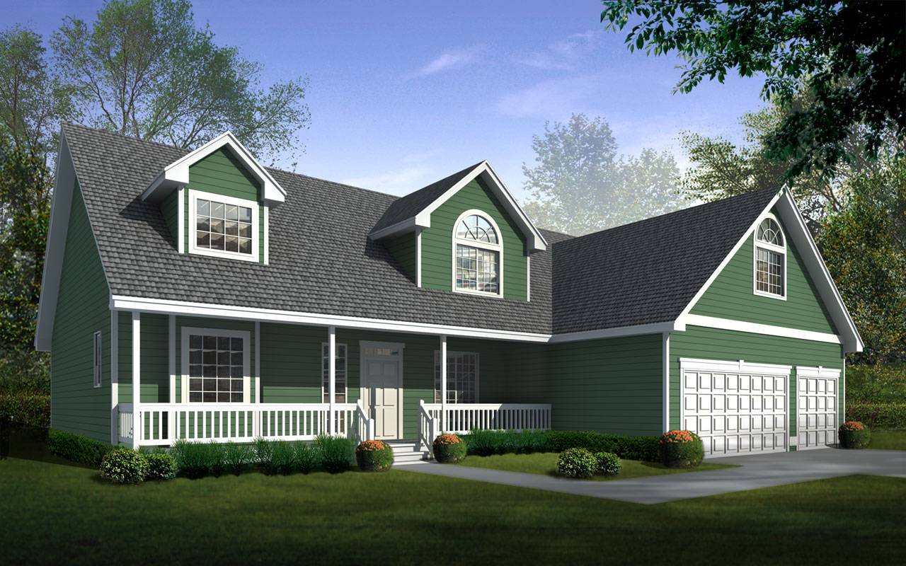 Country Style Home Design Plan: 1-312
