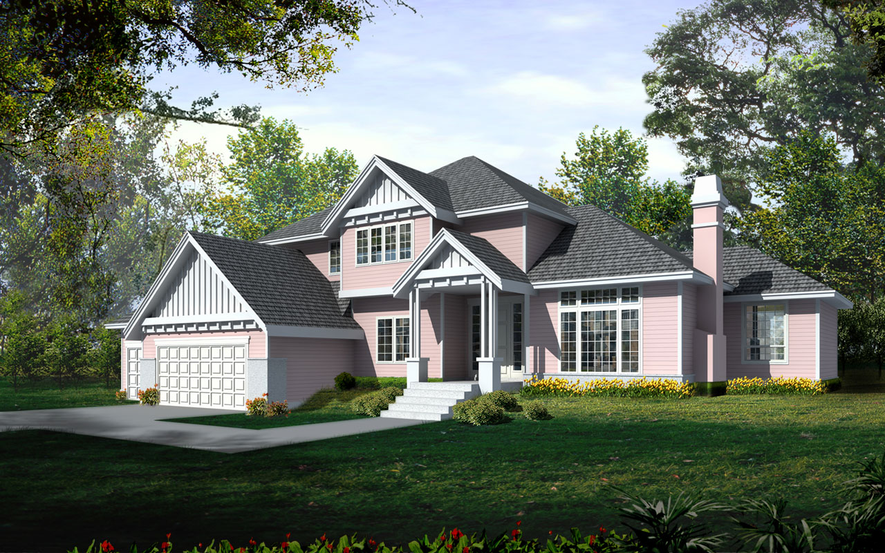 Traditional Style Home Design 1-313