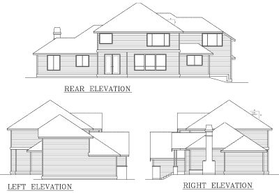 Rear Elevation Plan: 1-313