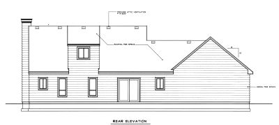 Rear Elevation Plan: 1-314