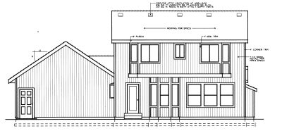 Rear Elevation Plan: 1-315