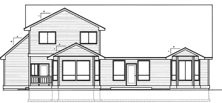 Rear Elevation Plan: 1-316