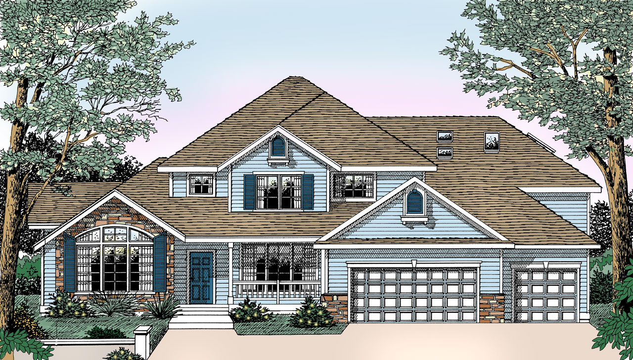 Traditional Style Floor Plans Plan: 1-317