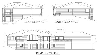 Rear Elevation Plan: 1-318
