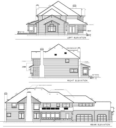 Rear Elevation Plan: 1-319