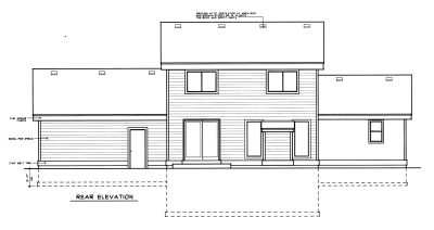 Rear Elevation Plan: 1-321
