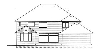 Rear Elevation Plan: 1-323