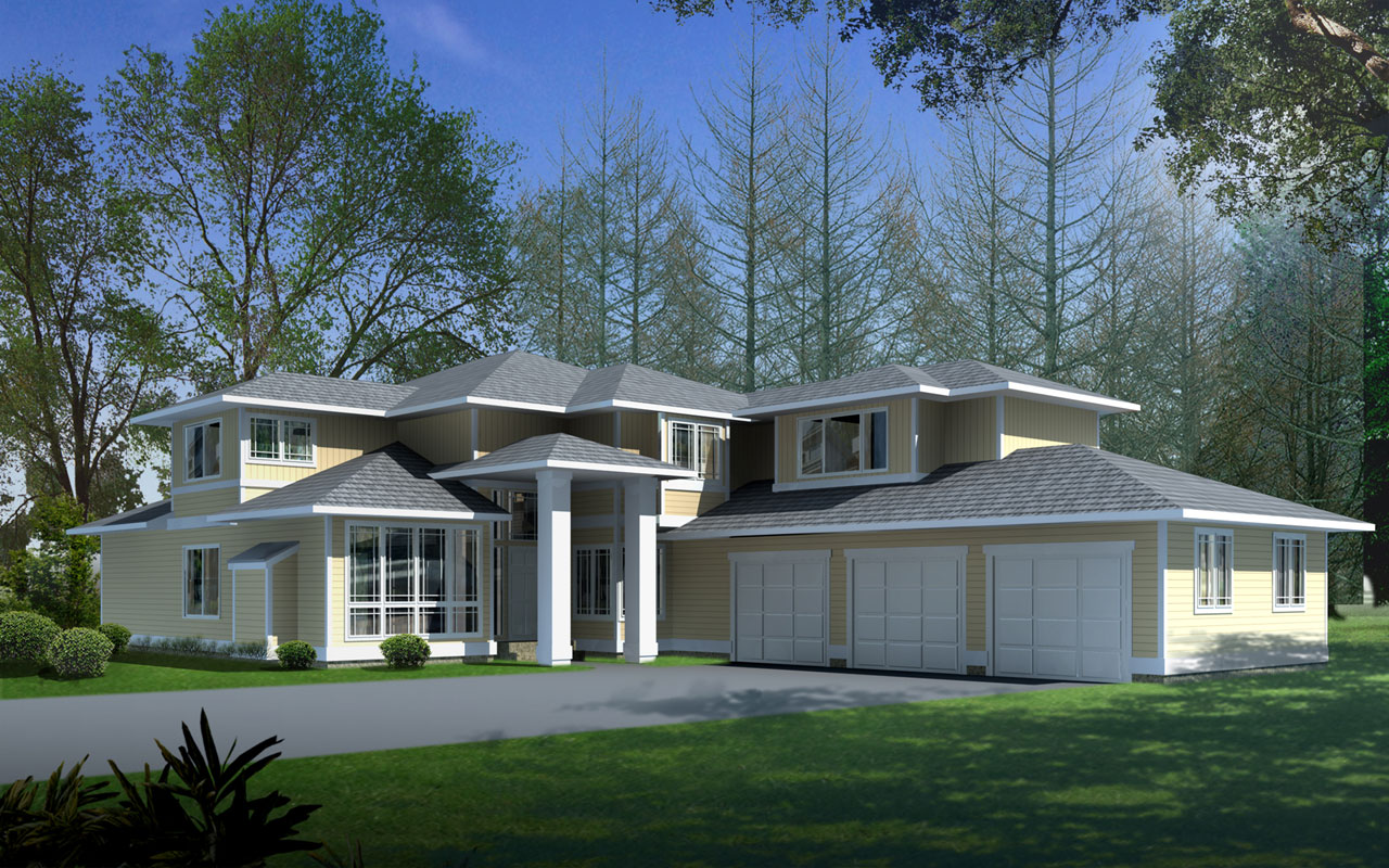 Prairie Style Floor Plans Plan: 1-324