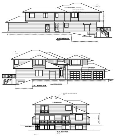 Rear Elevation Plan: 1-324