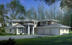 Prairie Style House Plans Plan: 1-324